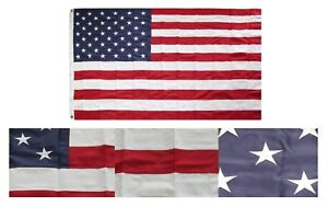 5x8 Embroidered Sewn USA US American 600D Nylon Flag 5'x8' Grommets