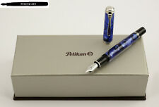New Pelikan Fountain Pen M805 Blue Dunes Special Edition 18K nib from 2019 .