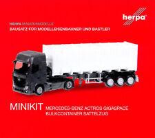 HERPA MiniKit 1:87 MB Actros Giga Bulkcontainer-Sattelzug, Bausatz 013031 NEU