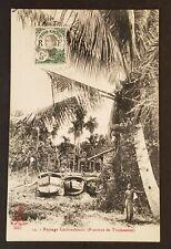 1912 French Indochina Paris France Cochin Thudaumot Saigon RPPC Postcard Cover