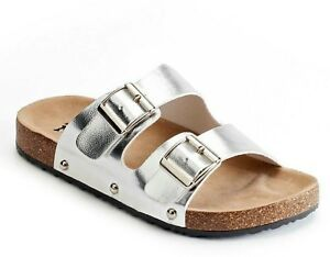 Mudd Silver Double Buckle Slide