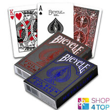 2 BICYCLE FOIL METAL LUXE PLAYING CARDS RED BLUE RIDER BACK USPCC NEW EDITION