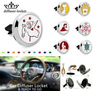 30mm stainless Air Freshener Essential Oil Diffuser Locket Car Mini Vent Clip