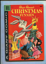 DELL GIANT BUGS BUNNY'S CHRISTMAS FUNNIES #8 (8.0) FILE COPY!