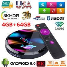 H96 Max X3 8K 4GB+64GB Android 9.0 TV Box S905X3 Quad Core 5G WiFi HD Media USB