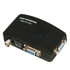 DC 5V TV BNC S-video VGA In to PC VGA LCD Out Converter Adapter Box with Cable