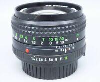 MINOLTA MD ROKKOR 50mm f 1.4 Camera Lens USED