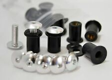 Dome Low Profile Windscreen Bolt Kit Silver Aluminium Screws, Bolts, Well Nuts