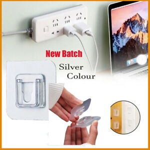 New Paste Plug Socket 5/10/20 Pairs Double-sided Adhesive Wall Hooks For Home