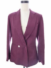 Womens Vintage Evan Picone Red Linen Blend Blazer Jacket M Medium