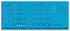 Peddinghaus 2680 1/160 Beschriftung für den Panzerzug BP 73