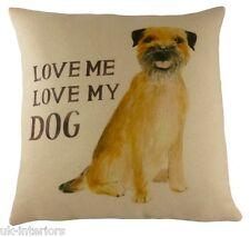 "17 ""Terrier LOVE ME Love il mio cane cuscino Evans Lichfield dp710 43cm"
