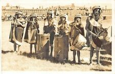 Teotihuacan Mexico Musicos Musicians Real Photo Postcard