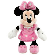 NWT Disney Store Minnie Mouse Plush Pink Polka Dots Mini Bean Bag 9""