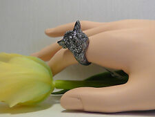 Alexis Bittar Elements Dark Phoenix Crystal Fox Head Ring. Size 7. *****NEW*****