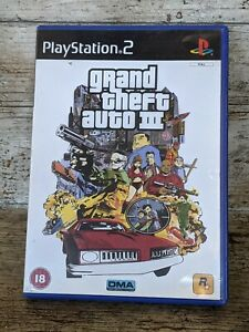 Grand Theft Auto III 3 - PS2 Sony PlayStation 2 - Including map and manual.PAL