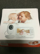 Baby Monitor Digital Sound Activated Video Record Baby 4.3-Inch Color LCD New
