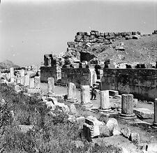 TURQUIE c. 1960 - Cité Grecque Colonnes Éphèse - Négatif 6 x 6 - Tur 34