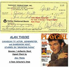 ALAN THICKE   TV & FILM STAR ACTOR   GENUINE HAND SIGNED BANK CHEQUE   RARE ITEM