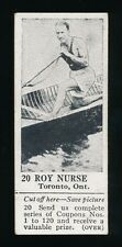 1924 V31 Dominion Chocolates ATHLETIC STARS #20 Roy Nurse (Rower)