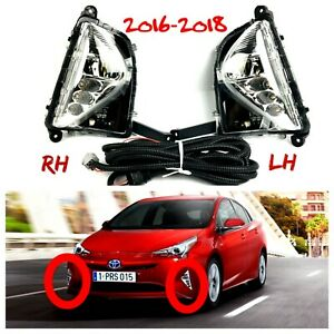 Fit for Toyota Prius Foglamp DRL Set Day Running Fog Lamp 2016 2017 2018 New