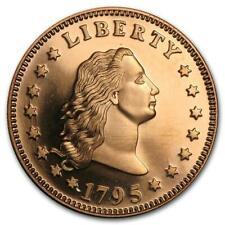 1 Unze Copper Round Flowing Hair Dollar 999,99 AVDP