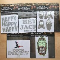 Lot (5) Duck Dynasty Vinyl Stickers Decals Cars Trucks Hey Jack Happy Uncle Si