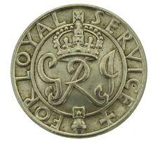 WW2 Re's Per Loyal Service Argento Guerra Kings,Ferita Con Revers Distintivo