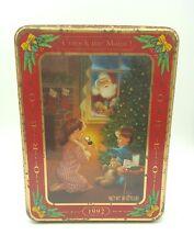 Oreo Cookie Christmas Tin '1992' Collectible Tin ~  Waiting for Santa