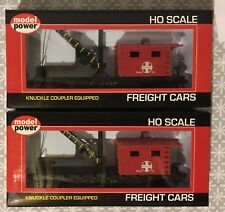 Model Power Ho Scale 40' Work Caboose W/ Crane And Knuckle Couplers 98181 ATSF