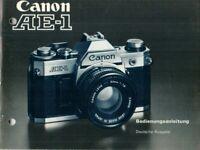 CANON - AE-1 - Bedienungsanleitung für Kamera - B17645