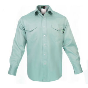 Flame Resistant FR Welding Shirt - Heavy Weight - 100% Cotton - 9 oz