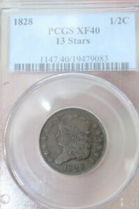 UNITED STATES Coin 1828 13-STAR HALF PENNY (DDP000628)