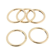 5x Round Carabiners Camping Spring Snap Clip Hook Keychain Keyring Gold 51mm