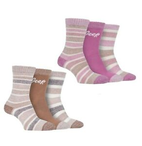 3 Pack Ladies Jeep Work Walking Cushioned Foot Performance Boot Socks Size 4-8