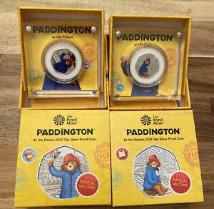 Paddington Bear 2018 50p Silver Proof Coin Set at The Palace + Station +COA
