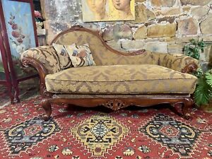 Stunning Vintage French Louis Style Chesterfield Chaise Lounge~Chair~Daybed