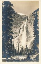 FIELD BC – Yoho Valley Takakkaw Falls Real Photo Postcard rppc