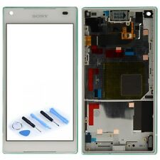 Sony écran LCD complet avec cadre pour Xperia Z5 Compact E5803 E5823 blanc, NEUF