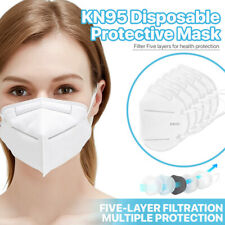 [50 Pack] Kn95 Face Mask 95% Filter Disposable Respirator 5-Ply Protective Cover