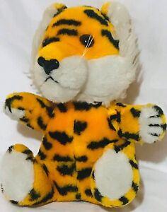 "Vintage 1980 Dakin 10"" Stuffed Plush Tiger Sitting Stuffed Animal"