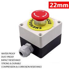 22mm E Stop Switch Latching Mushroom Head Emergency Stop Push Button Control Box