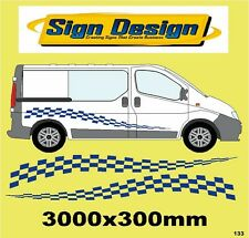 Accidentada Racing Bandera Fit Vivaro tráfico gráficos calcomanías Sticker Kit 133