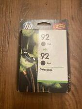 HP 92 Black Print Cartridges - TWIN PACK (2) Exp 2012