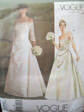 Vogue Pattern 2842 Bridal Original Strapless Gown Pattern Sizes 6-10 UCFF NOS