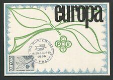 FRANCE MK 1965 EUROPA CEPT IVA MUNICH MAXIMUMKARTE CARTE MAXIMUM CARD MC d5316