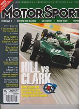 MOTOR SPORT UK MAGAZINE JUNE 2012,HILL VS CLARK & BRM VS LOTUS THE STORY OF 1962
