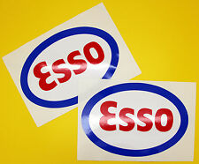 Classic Car Rally/Race ESSO sticker set x2 GLOSS LAMINATED