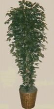 Artificial 7' Ficus Tree Plant Bush In Basket Topiary Patio Palm Flower Floral