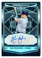 NATE LOWE RC 2019 OBSIDIAN SILVER PRIZM ROOKIE AUTO TAMPA BAY RAYS #OA-NL